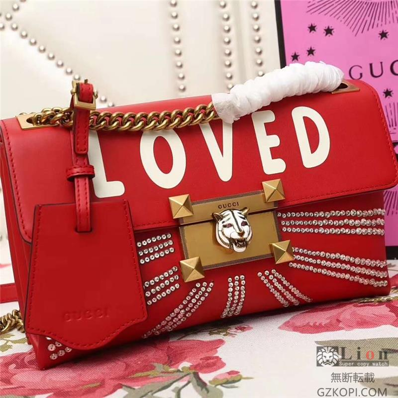 477330 GUCCI スーパーコピー lOVED   チェーン ュックサック 赤グッチバッグコピー,!